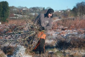 Scrub clearance - dragging brash