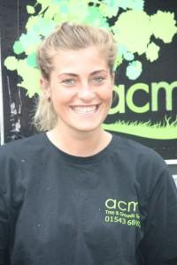 Frances Buxton-Hopley Trainee Arborist/Groundsman