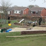 Preparation for a school vegetable garden